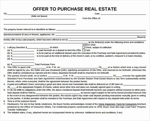 Real Estate Offer Letter Awesome Free 9 Sample Fer To Purchase Real Estate Forms In Pdf Real Estate Forms Lettering Real Estate