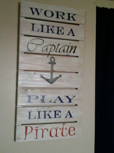 Made for boys pirate themed room.