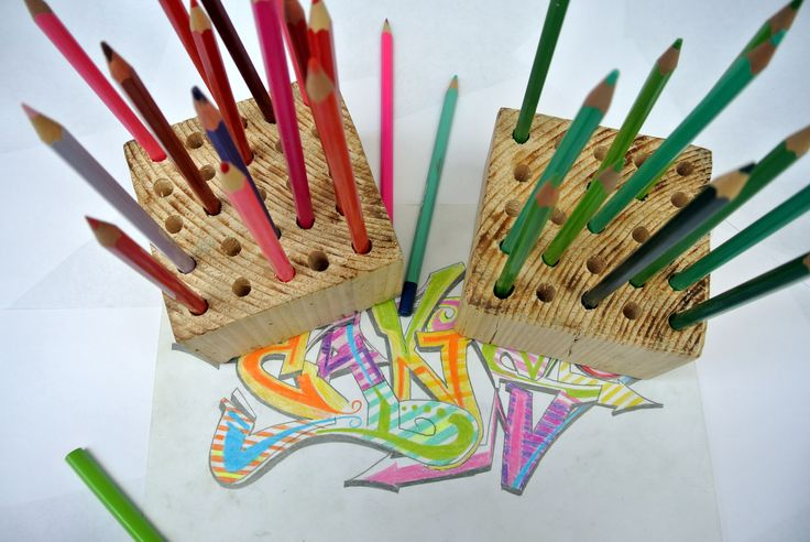 Wood pencil holder (full tutorial on our website)