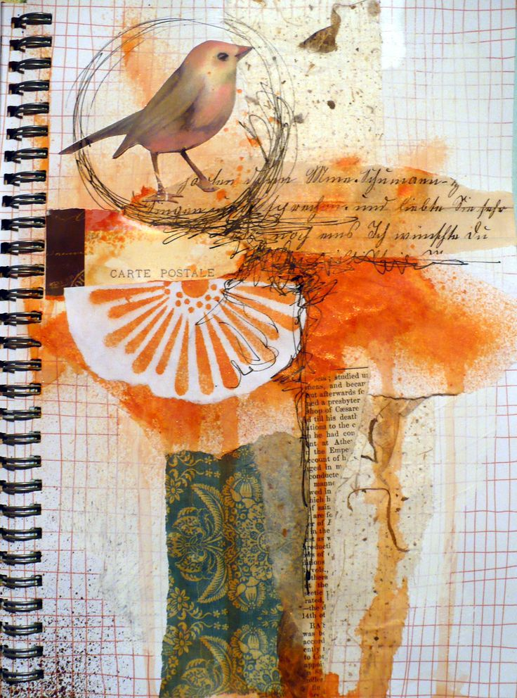working in my journal with papers and inks, random thoughts