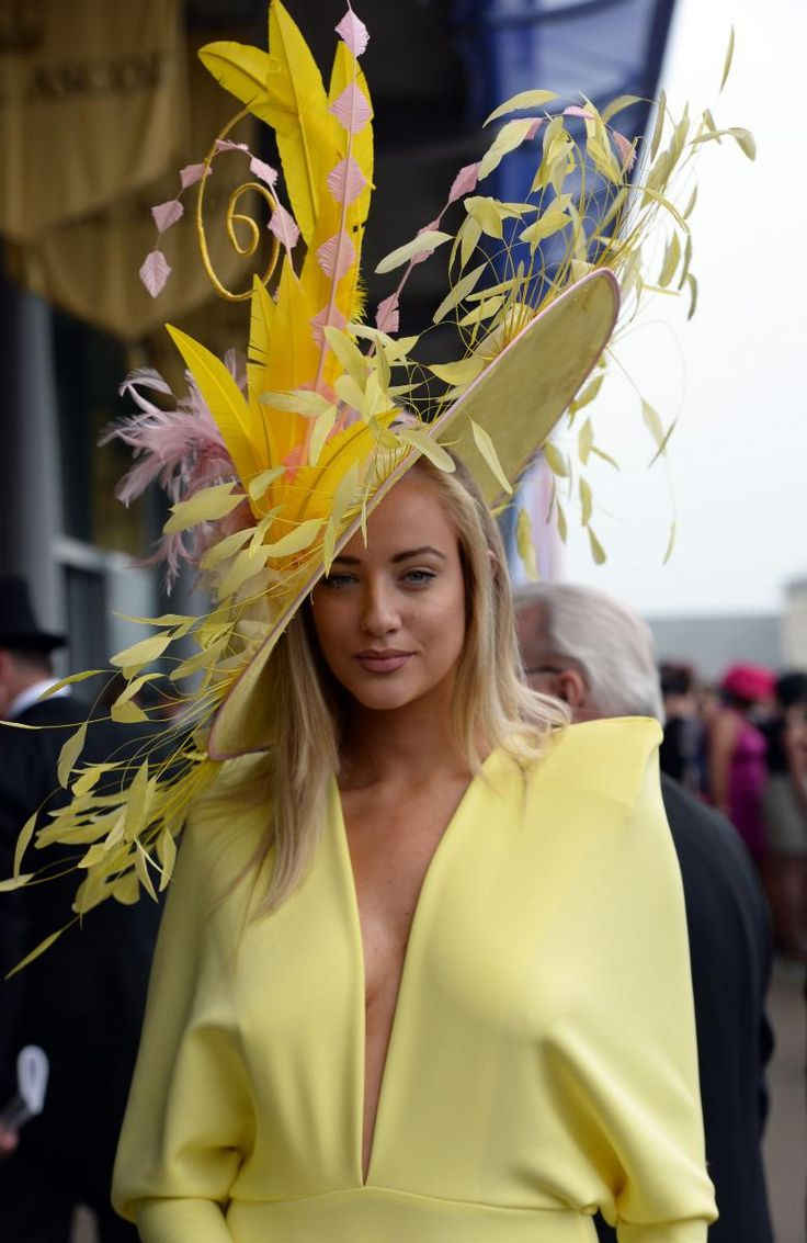 At Royal Ascot, 2013 - Supermodel Harriadnie Beau in a creation from Amanda Caroline Couture (gown by Gerda Truubon) Visit https://www.facebook.com/FratimanKingaDesign