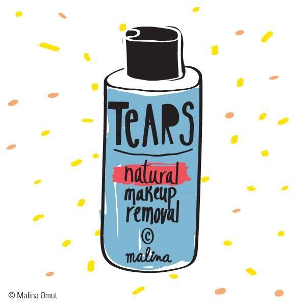 tears - natural makeup removal - malina