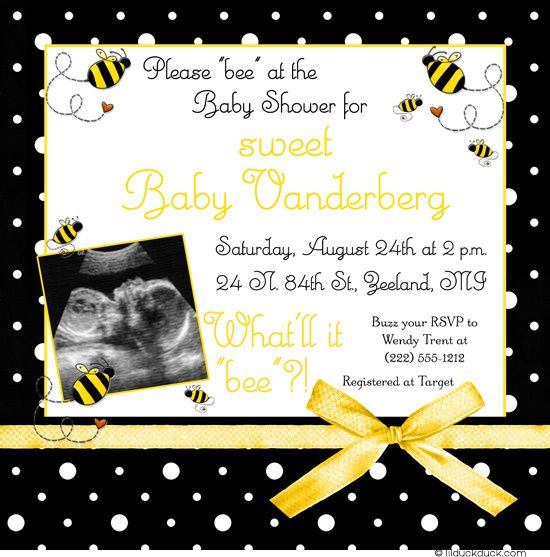 "Bumblebee Photo Surprise Baby Shower Invitation - What'll it ""bee""?!"