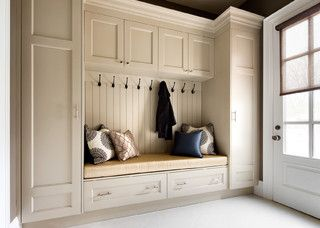 mud rooms with closets or pantry storage