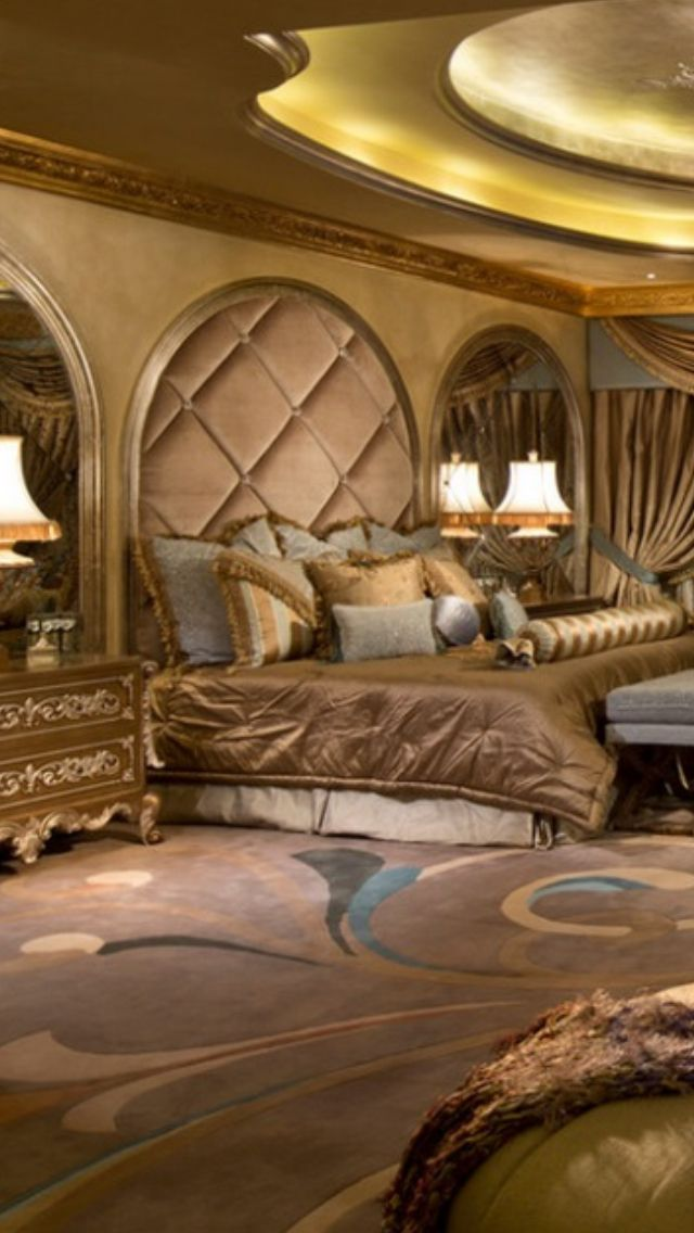 Luxury mansion master bedroom beautifully decorated for Living room 640x1136