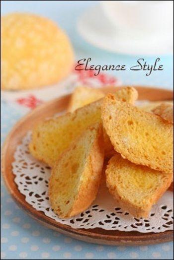 サクサクッ手が止まらない♪「ラスク」の作り方とアレンジレシピ ... メロンパンdeメロンパンラスク