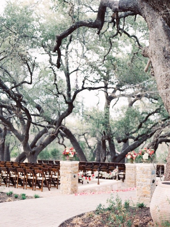 Coral Elegance at Camp Lucy Texas Wedding