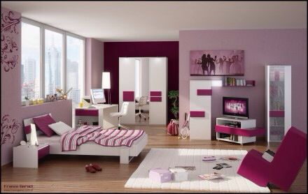 This is an excellent example of a teenage girl's modern bedroom.