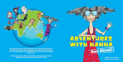 Adventures with Nanna -- Goes Abroad  Nanna learns to say hello and goodbye in the language of every country she visits. Scroll down until you see the cover image on this link: http://www.kylieburns.com.au/#!books/c24i2   and read every delightful, colorful page.