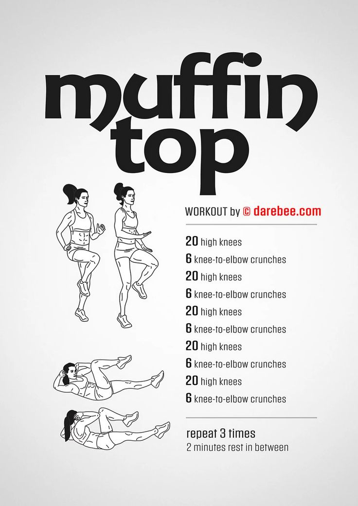 Muffin Top Workout #fitness #highknee #crunch