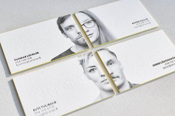 Letterpress Business Cards with Portrait Photography