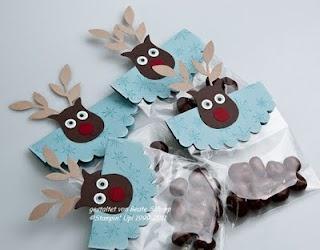 """""""Reindeer"""" treat bags :)"""