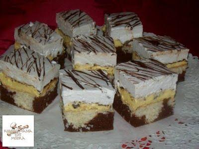 Receptek, és hasznos cikkek oldala: Kókuszos habgaluskás, krémes sütemény.