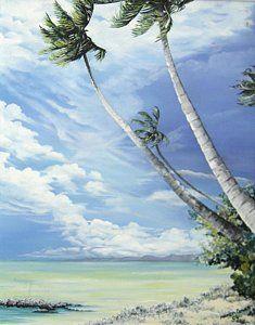 Tobago Painting - Nylon Pool Tobago. by Karin  Dawn Kelshall- Best