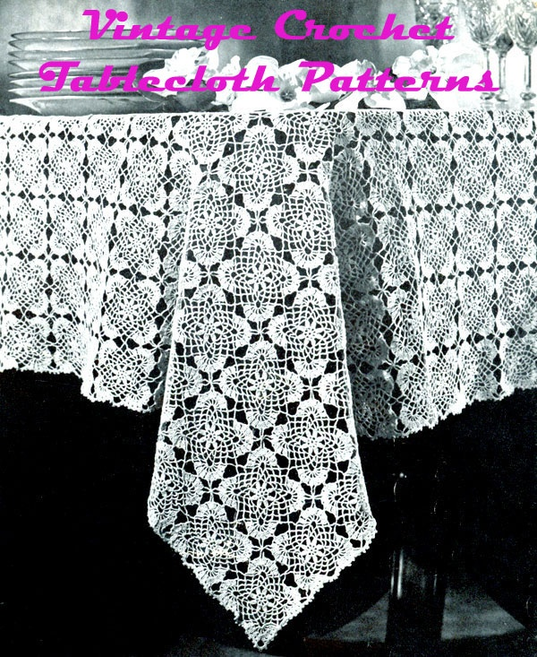 I think I may try to make this one soon!(Vintage Crochet Tablecloth Patterns)