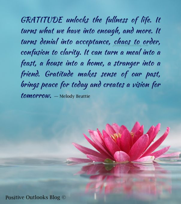 Gratitude makes things enough