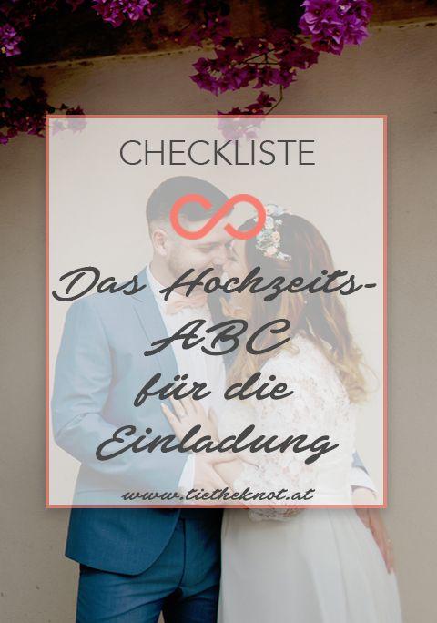 Das Hochzeits Abc Fur Die Hochzeitseinladung Tipps Und Beispiele
