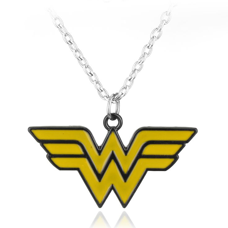 Wonder Woman Yellow Wing Necklace