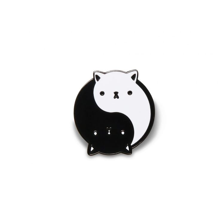 yin yang cat pin - What more to say other than we just LOVE cool stuff!
