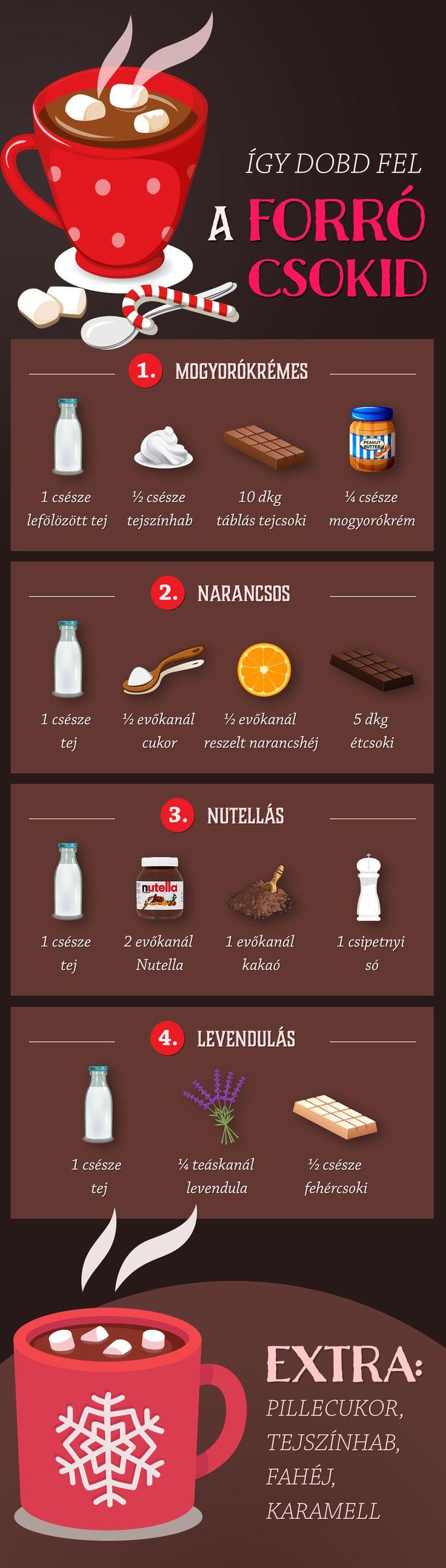 Extra forró csokik bekuckózós estékhez - készítsd el velünk! :)