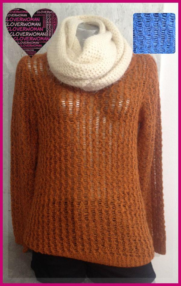Jersey lana Ichi Azul y naranja. Calentita y pero con estilo!! Visita nuestro Facebook!!