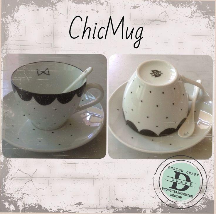Collezione Chic Mug, tazza da thè/latte_Design Craft www.designcraft.it