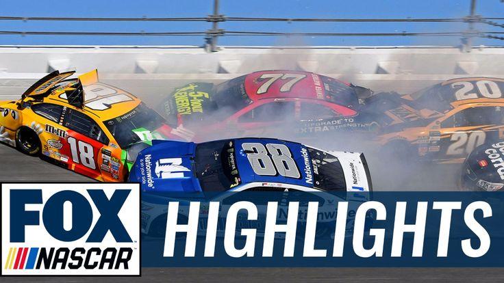 Kyle Busch and Dale Earnhardt Jr. wreck at Daytona   2017 DAYTONA 500   ...