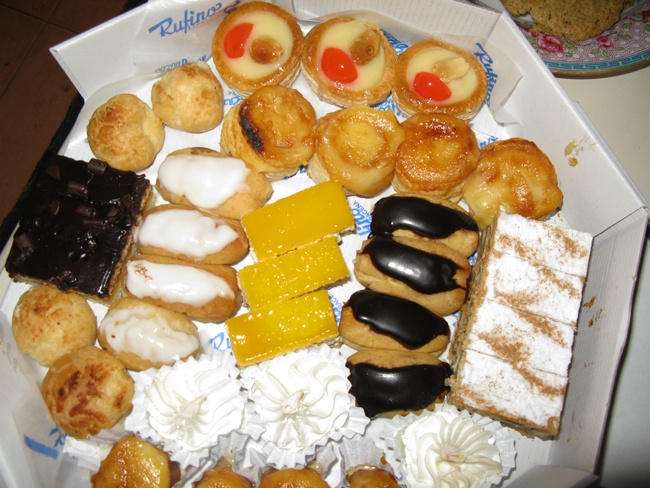 Cakes and pastries from Rufino. A spanish favourite.