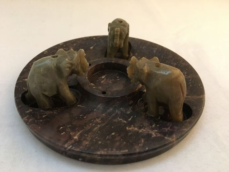 Incense Burner Stoneware – Three Elephants Design – Made in India in Lots More..., Metaphysical, Incense, Accessories | eBay!