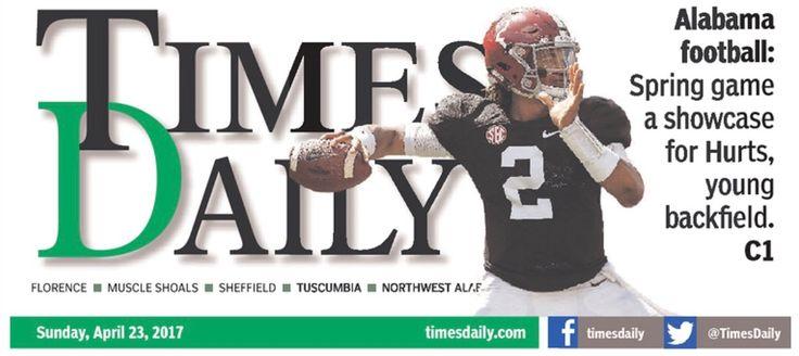 Jalen Hurts in Alabama's A-Day game 2017 #Alabama #RollTide #Bama #BuiltByBama #RTR #CrimsonTide #RammerJammer