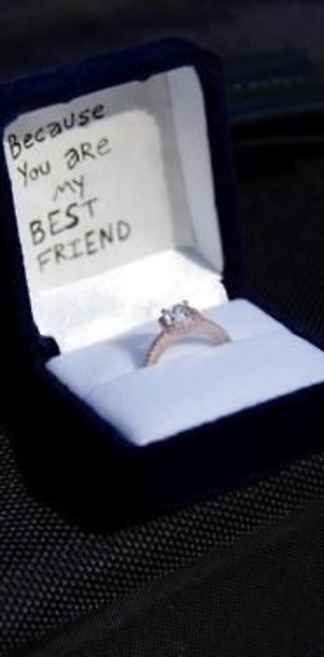 I would die if a guy proposed to me with that written on the inside <3