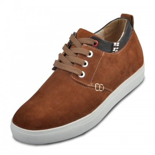 Look for best Men elevating suede casual shoes increase height 6cm / 2.36inches dark brown taller leisure shoes  with the SKU: MENXJD_168-8_01 at Tooutshoes online store