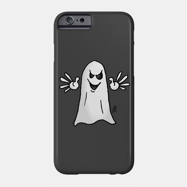 Ghost phone case.  #Phone #iPhone #case #Ghost #Halloween #Teepublic #Cardvibes #Tekenaartje #SOLD