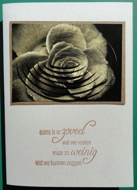 a condoleance card with Noor!Design stamp