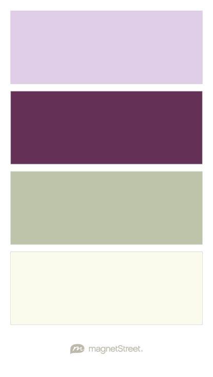 Lavender, Eggplant, Sage, and Ivory Wedding Color Palette - custom color palette created at MagnetStreet.com