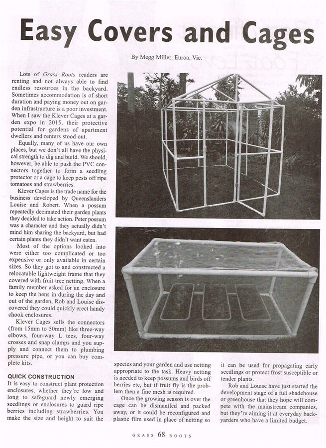 Klever cages in Grass Roots magazine  Apr/May 2016 Page 1