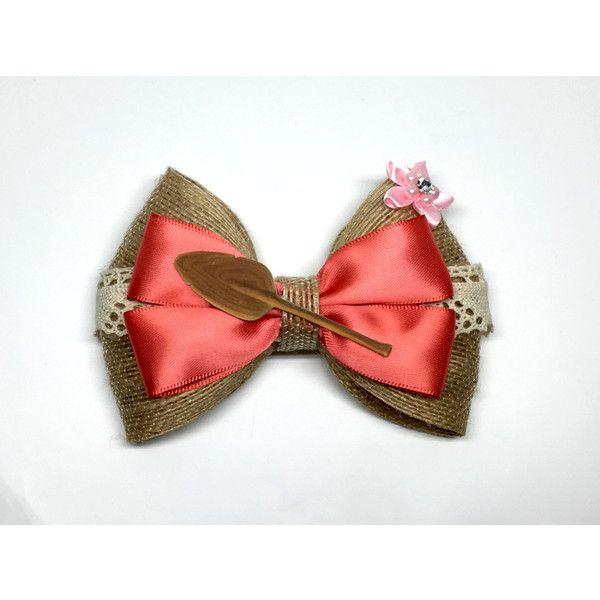 Moana Disney Hair Bow ($8) ❤ liked on Polyvore featuring accessories, hair accessories, bow hair ties, bow headbands, elastic ribbon hair ties, ribbon hair bows and elasticated headband