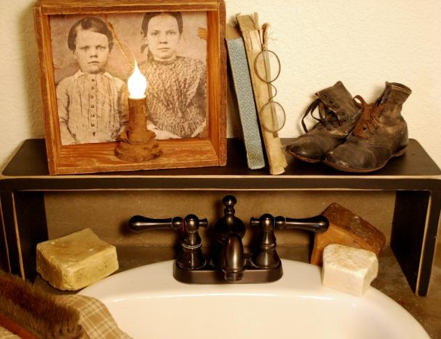 Primitive Country Over The Sink Shelf. $49.99, Via Etsy.