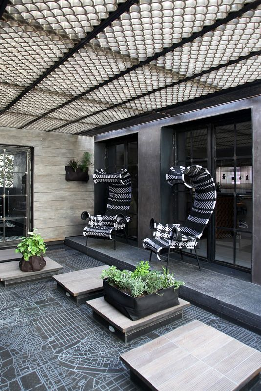 Loft in Athens, outdoor, Morosso chairs, design, esestudio architects