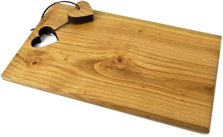 Schneidbrett Brotzeitbrett Kirsch Holz Edelweiß Herz | Holz Frank - Großhandel