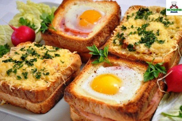 100 РЕЦЕПТОВ: Запеченные в духовке бутерброды к завтраку