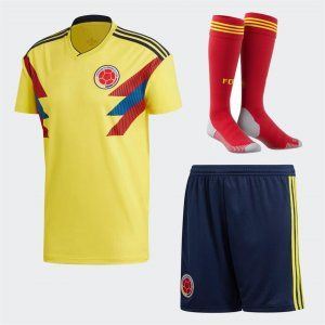1ae0498b9 2018 World Cup Kit Colombia Home Replica Yellow Full Suit  BFC492 ...