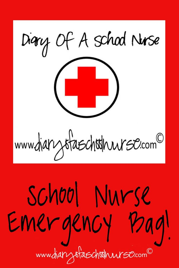 Diary Of A School Nurse: Emergency Bag for School Nurses