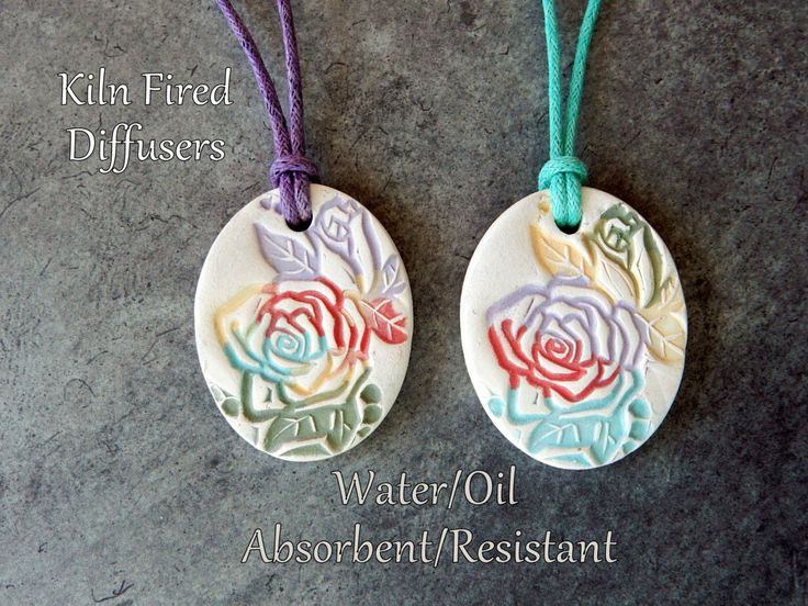 Multicolored Aromatherapy Essential Oil Diffuser Necklace Pendant Natural Healing Hypoallergenic Nature Yoga Clay Jewelry Anxiety Relief