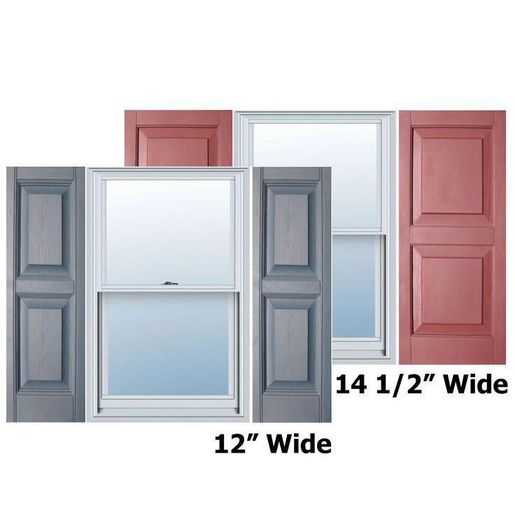 Builders Choice Vinyl Raised Panel Window Shutters W Shutter Spikes Screws Per Pair