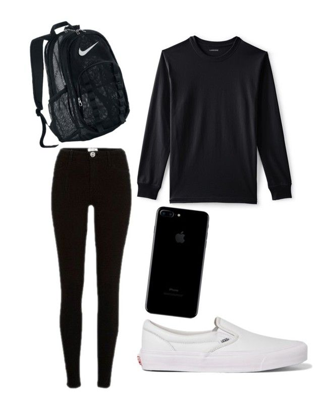 """Untitled #9"" by tamas-erdos on Polyvore featuring River Island, Lands' End, Vans, NIKE, men's fashion and menswear"
