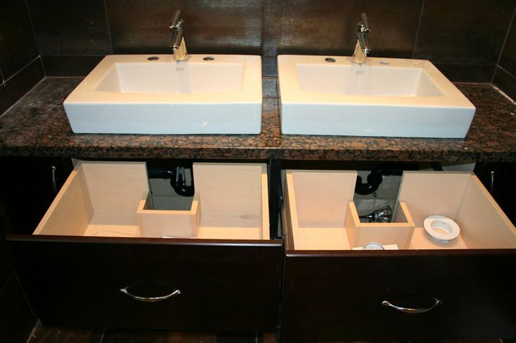 Bathroom vanity with custom drawer box cut outs to - Custom bathroom countertops with sink ...