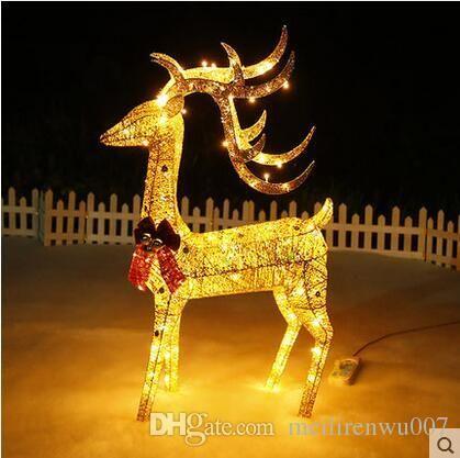 animated lighted reindeer christmas decoration
