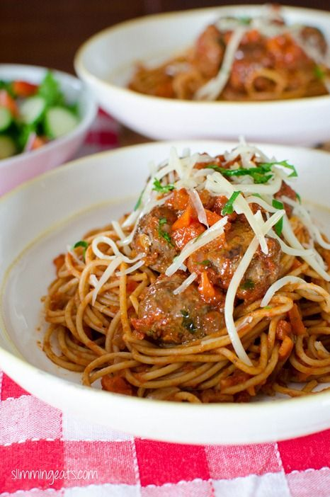 Spaghetti and Meatballs | Slimming Eats - Slimming World Recipes