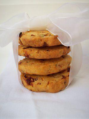 Cookies parmesan, origan et tomates séchées